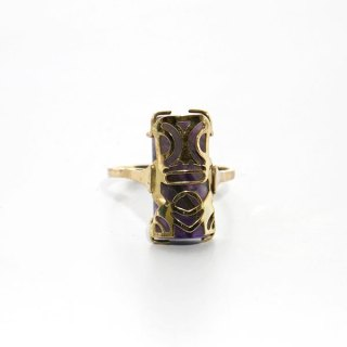 TIKI RING SET ON GEMSTONE