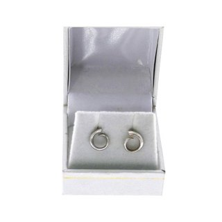 TUSK SHAPED MINI STUD EARRING STERLING SILVER