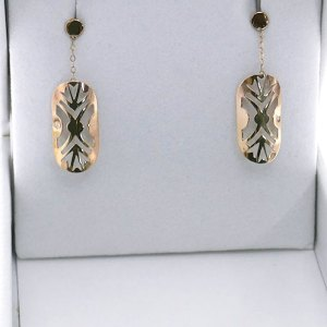 DANCE SHIELD FEMALE DROP CHAIN EARRING