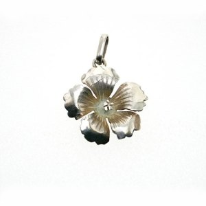 HIBISCUS PENDANT STERLING SILVER