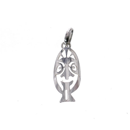 MASK PENDANT STERLING SILVER