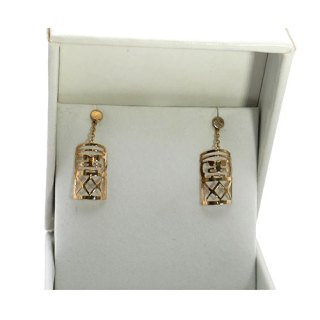 TABOU SHAPED DROP CHAIN EARRING