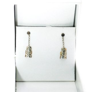 TIKI MINI DROP CHAIN EARRING STERLING SILVER