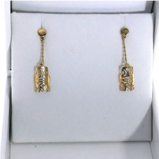 TIKI MINI SHAPE DROP CHAIN EARRING