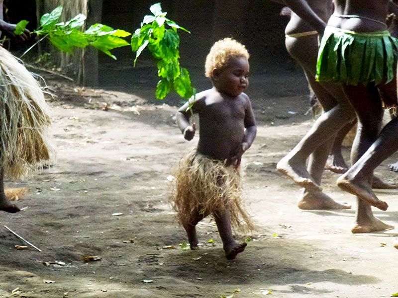 All Ni-Vanuatu, from infants and children through to village elders actively participate in cultural events on the island and are happy for outsiders to watch and join in.
