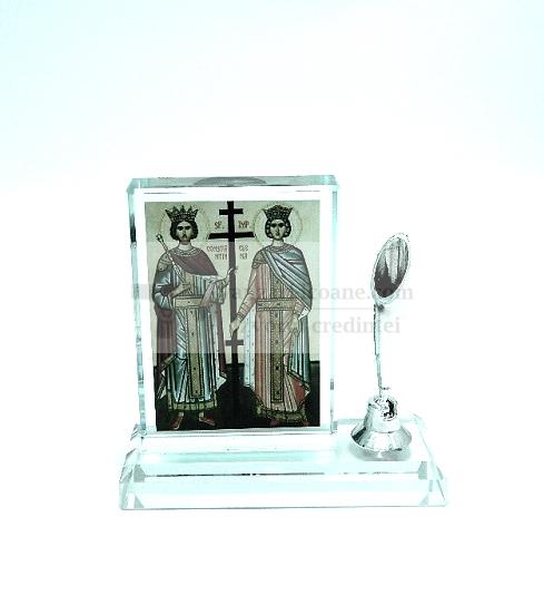 Icoana din sticla pentru birou cu suport pentru pix 3