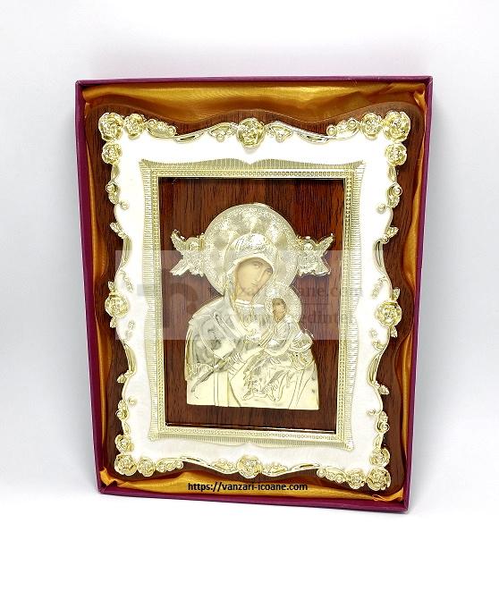 icoana ortodoxa pe lemn Maica Domnului cu Pruncul