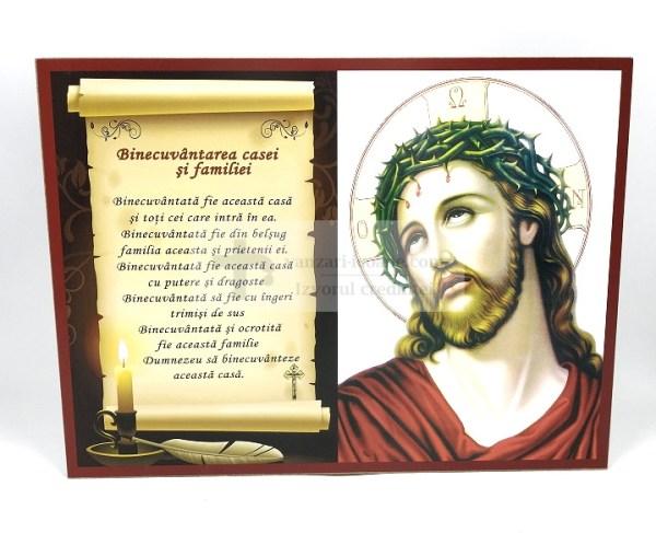 Icoana Binecuvantarea casei cu Isus