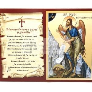 Icoana binecuvantarea casei si familiei cu Sfantul Ioan Botezatorul