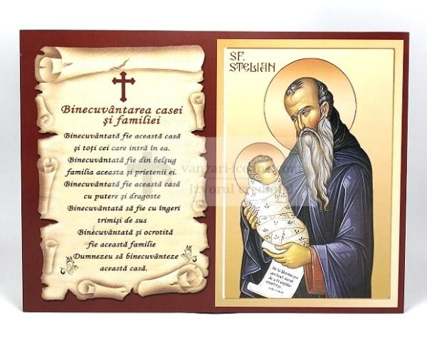 Icoana binecuvantarea casei si familiei cu Sfantul Stelian