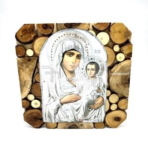 Icoana Maicii Domnului Ierusalnita pe lemn