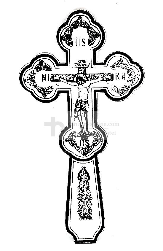 Cruce din lemn serigrafiata