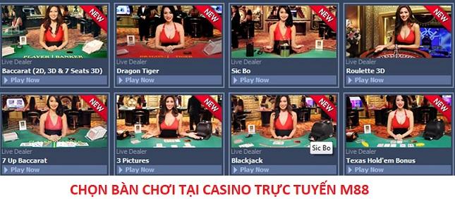 chon ban choi casino truc tuyen m88
