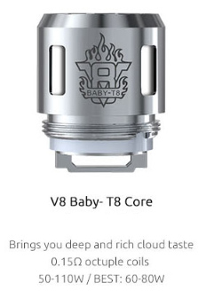 V8 Baby T8 Core Coils to Buy from the UK