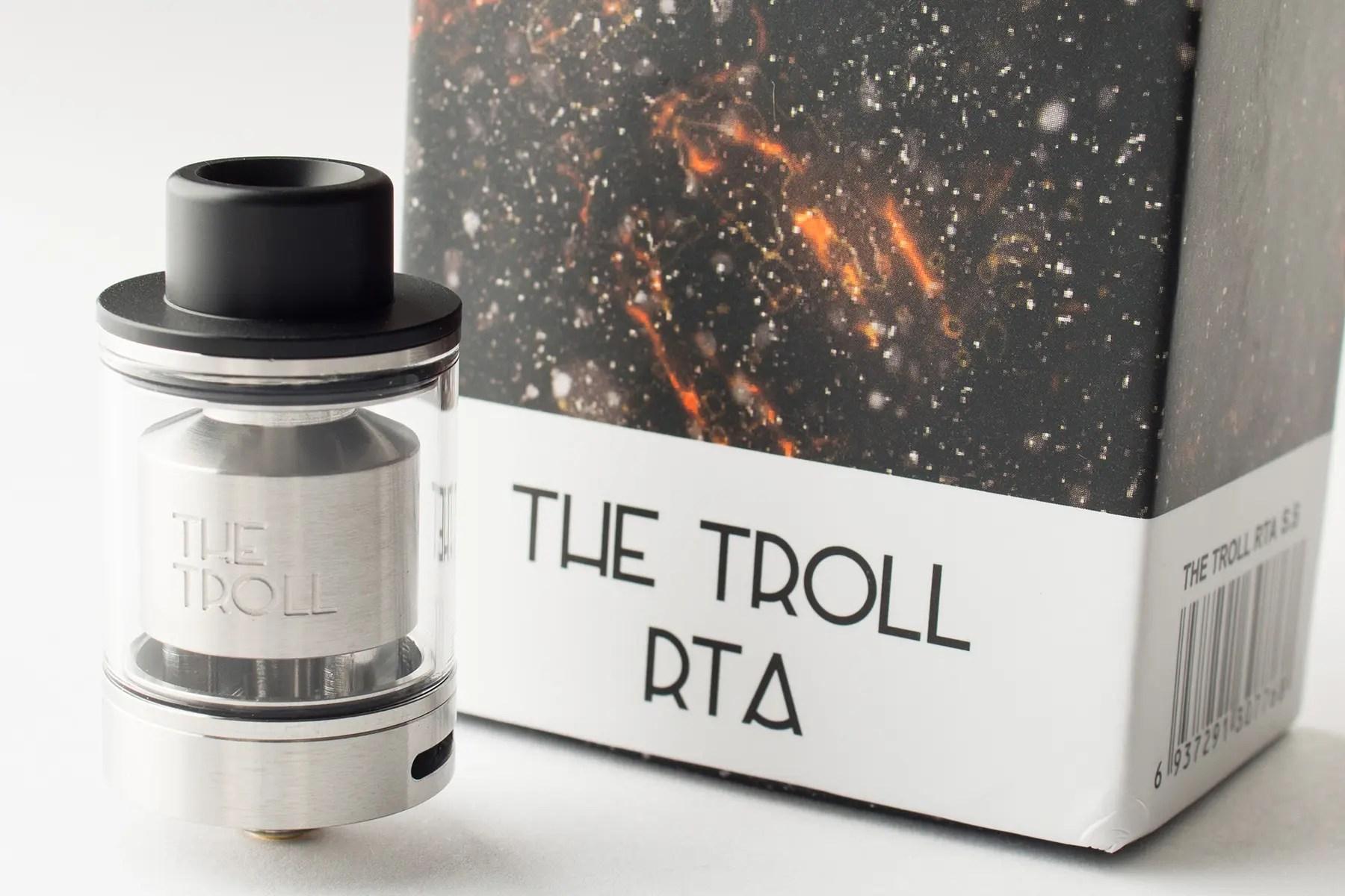 【アトマイザー】THR TROLL RTA「ザ・トロール・RTA」 (Wotofo ウォトフォ) レビュー