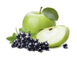 apple and blackcurrants