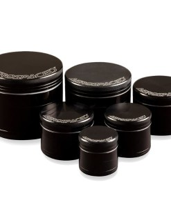 Aerospaced Groove 4-Piece Grinder Black