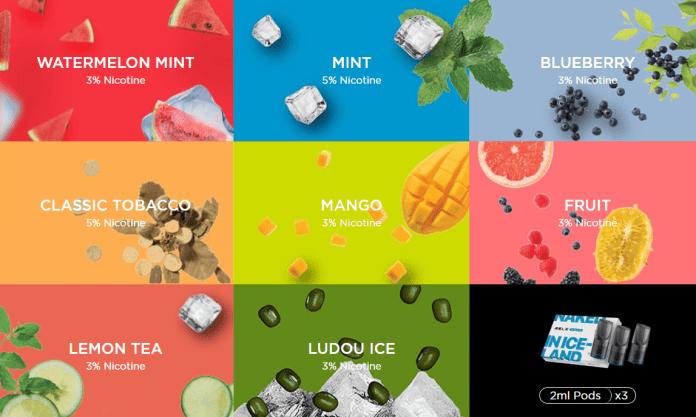 relx pods flavors