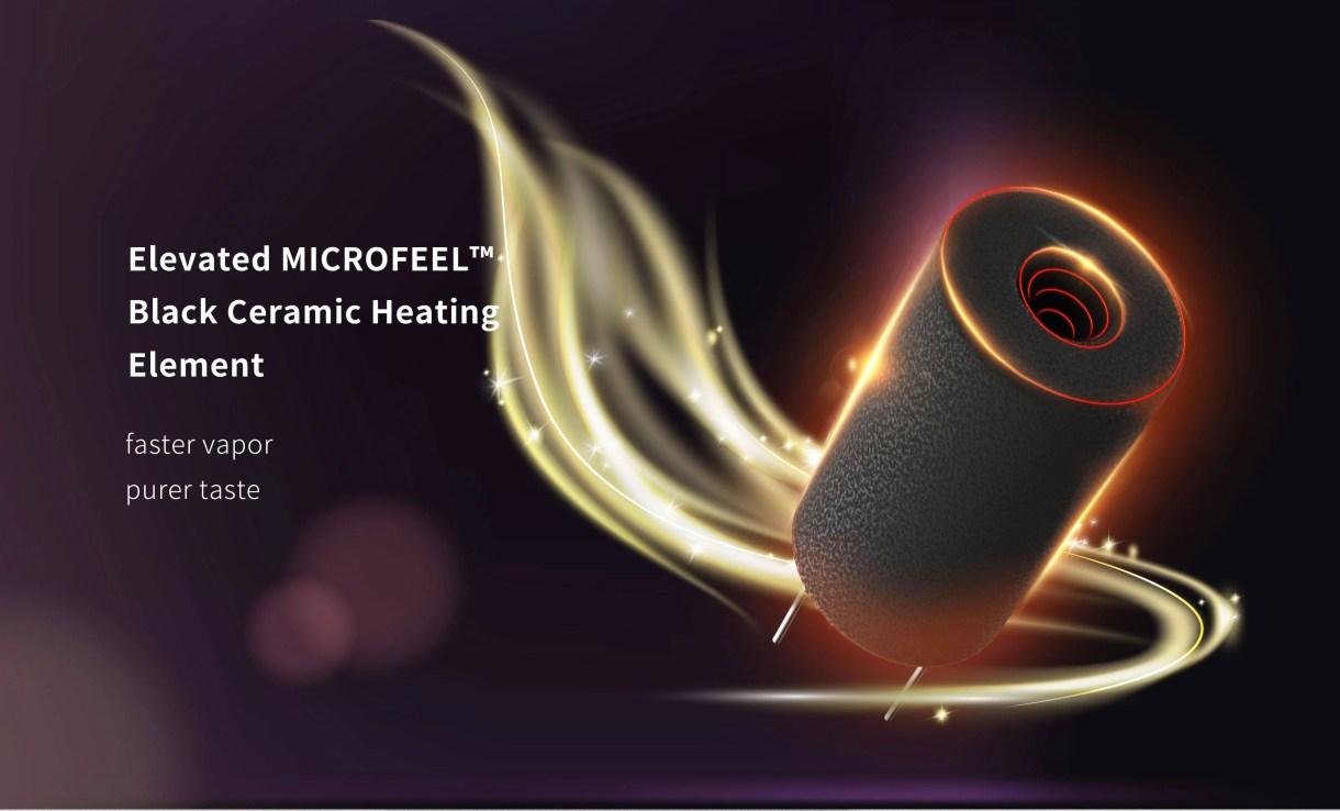 Elevated MICROFEEL Black Ceramic Heating Element fast vapor pure taste