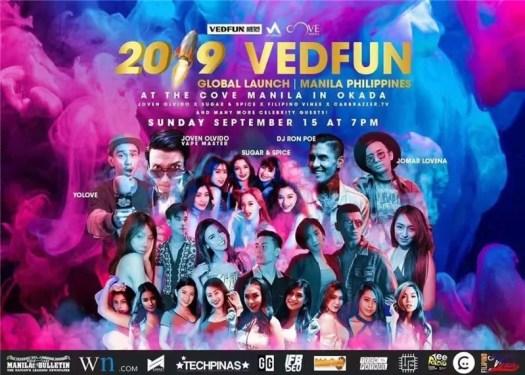 Vedfun e-cigarettes Philippines all star product launch