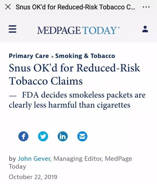FDA snus