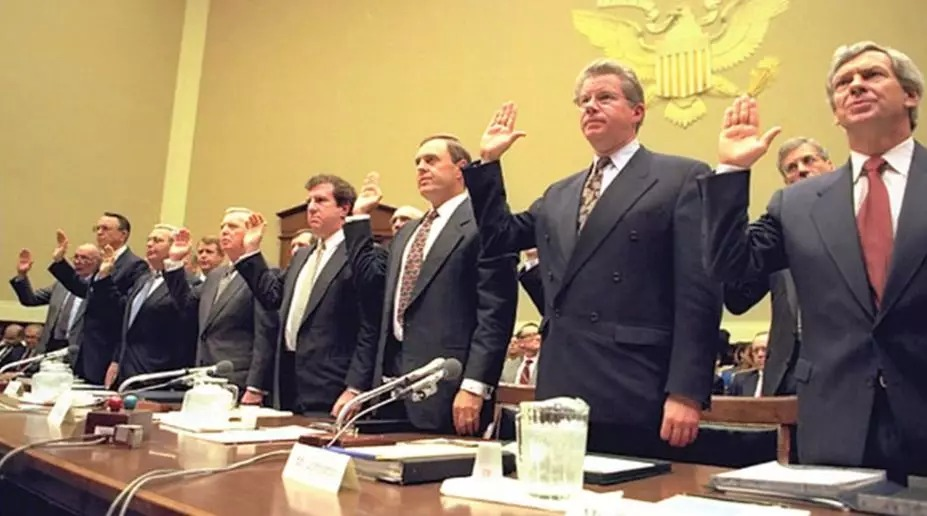 Seven CEOs swear in court