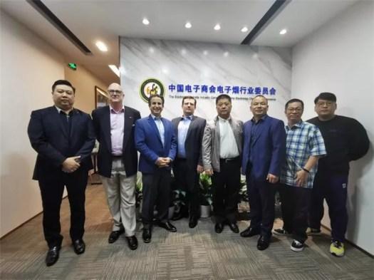 Group photo of representatives of the seven major sponsors