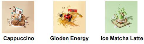 Cappuccino Gloden Energy Ice Matcha Latte