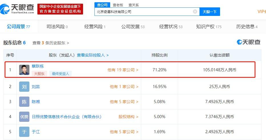Yooz denied that Cai Yuedong quit Qiwu Technology Co., Ltd. shareholders: wrong report