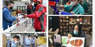 Top 9 major Chinese cities by work resumption index