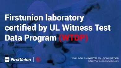 Firstunion laboratory certified by UL Witness Test Data Program (WTDP)