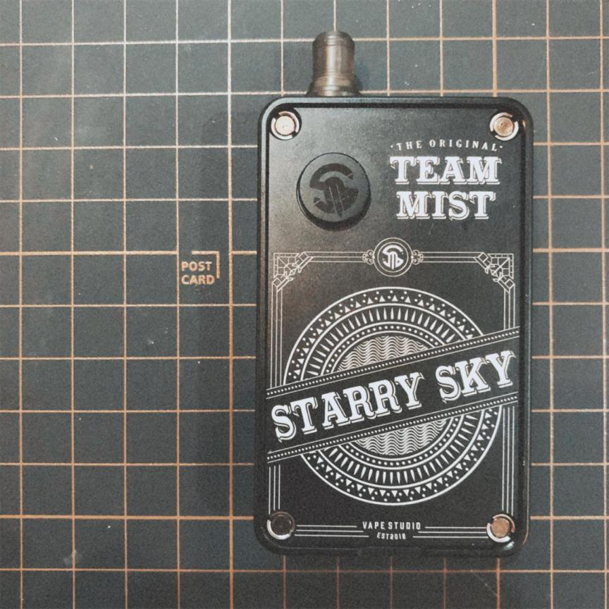 STARRY SKY pod mod review - A mod vape that uses cartridges of pod vapes
