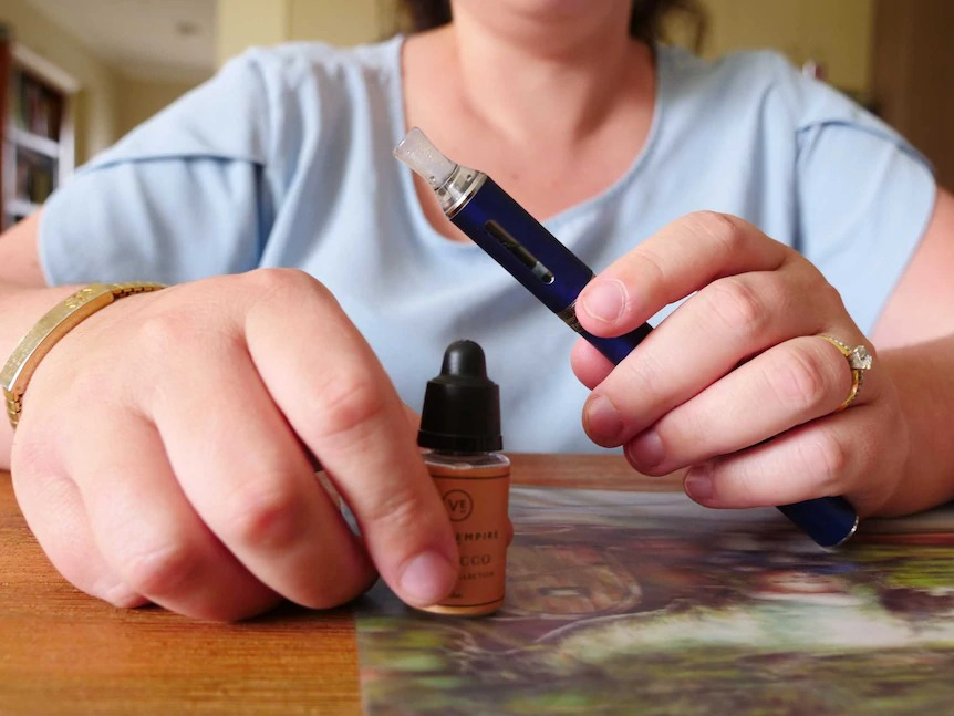 For most Australians, it'll become all but impossible to vape from October 1.(ABC News: Jedda Costa)