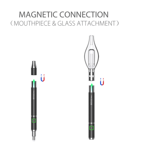 Yocan Dive Mini features magnetic mouthpiece and glass attachment