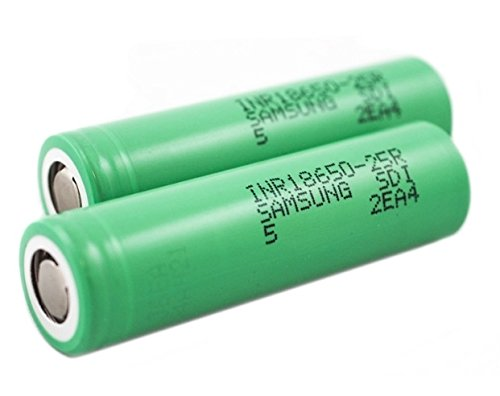 2x Samsung 25R 2500mah 18650 Batteries for £9.50 at Amazon
