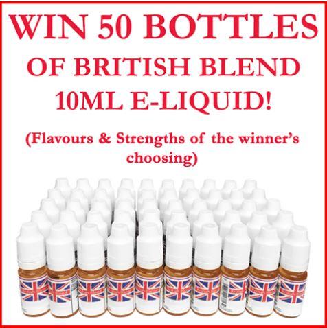 [Facebook] Win 50 Bottles of British Blend 10ml E-Liquid
