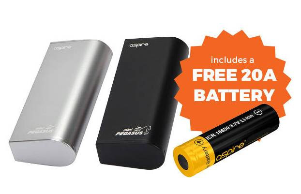 Aspire Mini Pegasus 50w Mod + Free 20A Battery – Free delivery from EcigAspire – £22.49