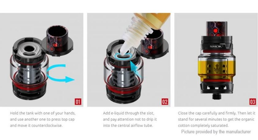SMOK TFV12 Prince Clearomizer (Standard Edition) instructions