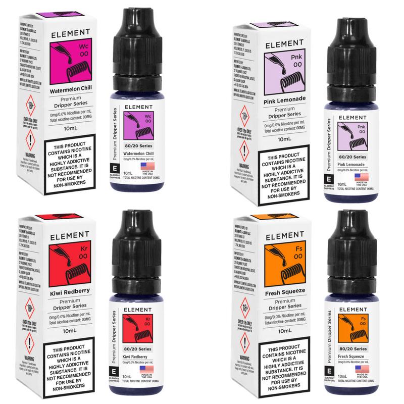 Element E-Liquids   10ml for £3.49 at Finest Vapes