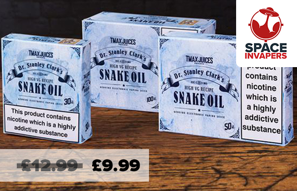 The infamous SNAKE OIL now £9.99 at SpaceInvapers