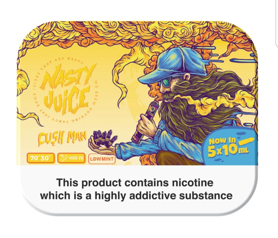 Nasty Juice Cush Man 5 x 10ML @ vapour247