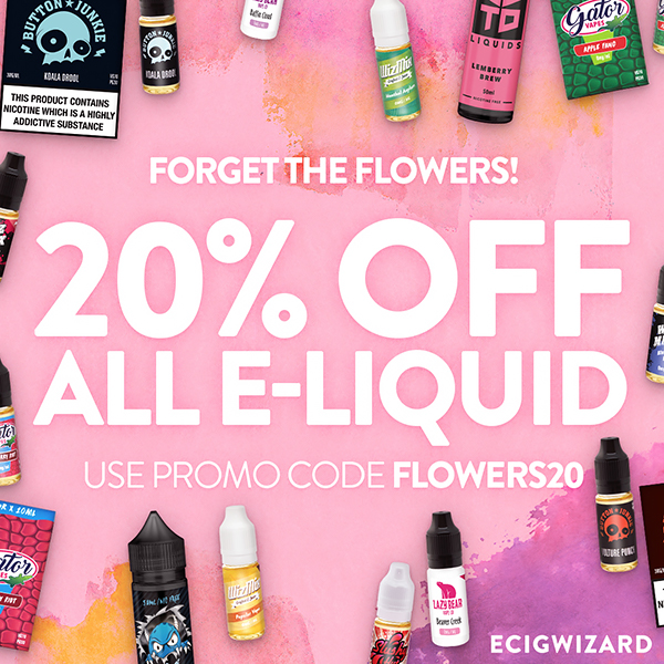 20% Off All E-Liquid at Ecigwizard