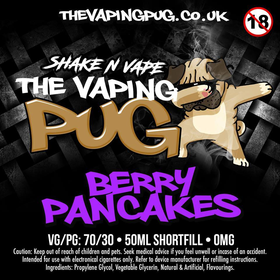 The Vaping Pug Berry Pancakes 50ml – £4.00