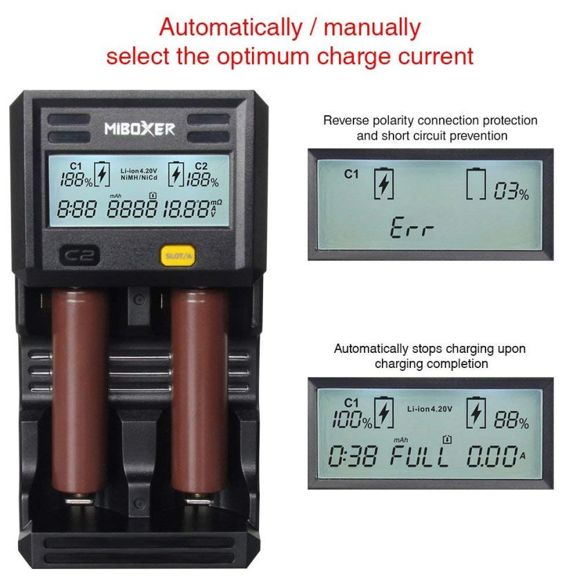 Automatically or manually select the optimum charge current