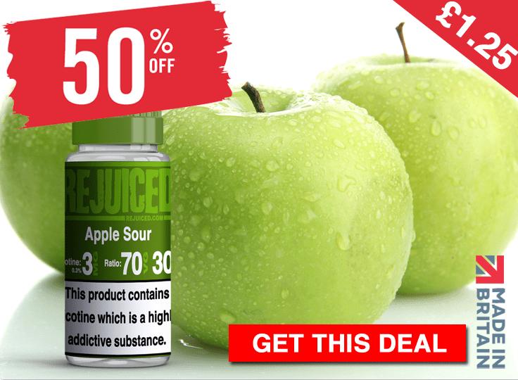 10ml  Apple Sour E-Liquid by REjuiced – £1.06