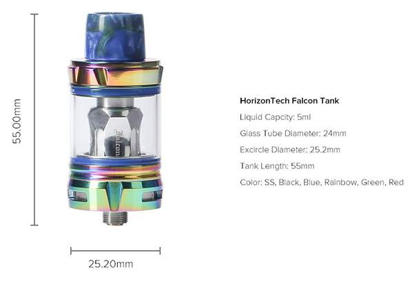 Horizon Tech Falcon tank specifications