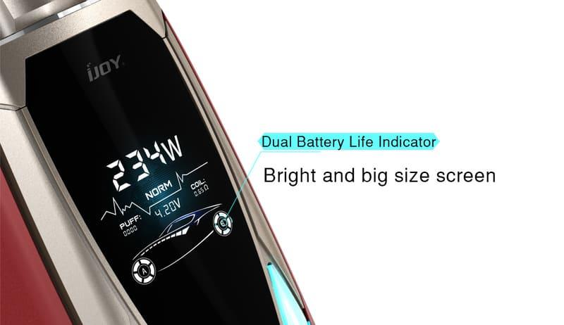 IJOY Avenger 270 234W Voice Control Mod Screen