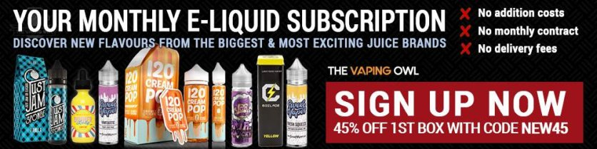 vaping owl eliquid monthly