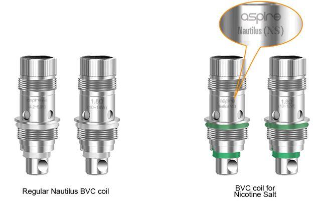 Aspire Nautilus AIO Atomizer - Nautilus BVC coil for Nic Salts