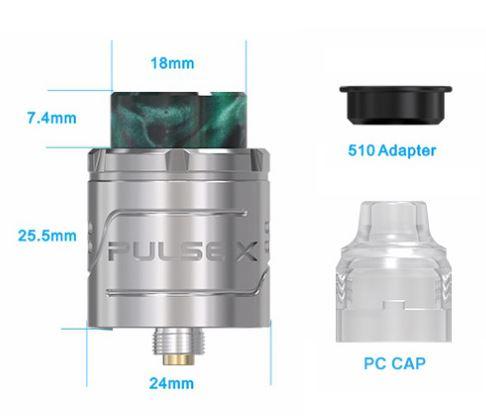Vandy Vape Pulse X BF RDA Parameters